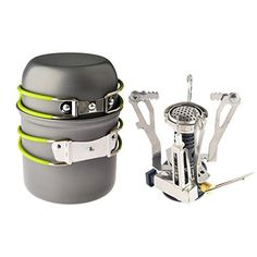 camping kitchen tent - Camp Stove,Petforu Outdoor Camping Stove Cookware Hiking Backpacking Picnic Cookware Cooking Tool Set Pot Pan Piezo Ignition Canister Stove Propane Canister * Visit the image link more details. (This is an affiliate link) Portable Camping Stove, Camping Tools, Luxury Camping, Backpack Camping, Camping Supplies, Camping Equipment, Camping Items, Camping Gadgets, Picnic
