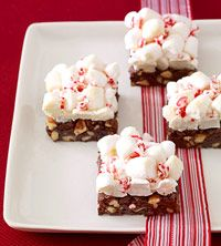 Peppermint Cloud Brownies
