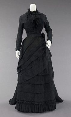 Mourning Dress 1870 The Metropolitan Museum of Art by oldrose