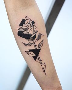 Geometric Rose Tattoo by woorimap