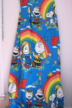 Vintage Peanuts twin bedspread charlie brown snoopy bedding by fuzzymama on Etsy