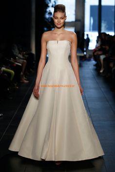 A-linie Schlichte Hochzeitskleider aus Taft