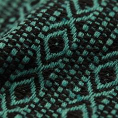 Recycled Polyester & Recycled Cotton Aztec Turquoise