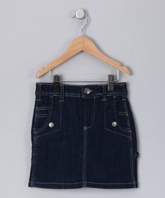 Look what I found on #zulily! Navy Blue Denim Skirt - Girls by Starwear #zulilyfinds