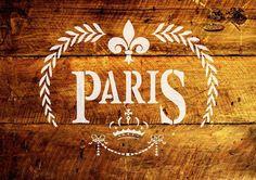 A4 Muebles de tela de plantilla Pastelería Francés Vintage Shabby Chic 190 de Mylar ❤