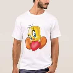 Tweety Holding Heart T-Shirt - tap to personalize and get yours
