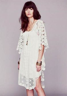 Nice white bohemian dress 2018/2019 Check more at http://24myfashion.com/2016/white-bohemian-dress-20182019/