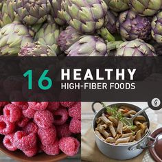 16 Healthy High-Fiber Foods #highfiber #healthy