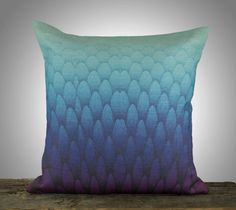 Amethyst and Turquoise Ombre Pillow Cover by TheWatsonShop on Etsy, $46.00