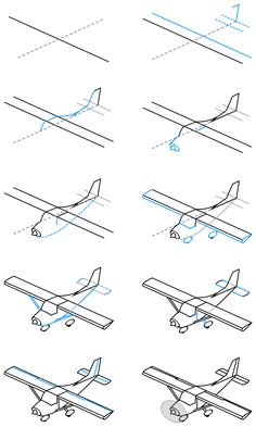Draw a single engine airplane by @spacefem, , on @openclipart