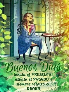 Buenos dias discovered by maría josé on we heart it Good Morning Greetings, Good Morning Quotes, Good Morning In Spanish, Buenos Dias Quotes, Jolly Phonics, Cafe Art, Diy And Crafts Sewing, Maria Jose, Cartoon Gifs