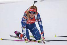 Vyřízená Gabriela Koukalová v cíli stíhačky na MS v Hochfilzenu, ve které nakonec vydřela bronz Bronze, Sport, Deporte, Sports