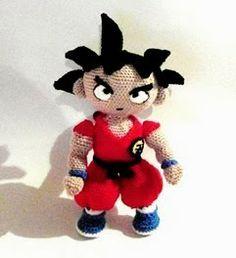 Son Goku Amigurumi Patrón Gratis en Español aquí: http://patronesamigurumipuntoorg.blogspot.com.es/2014/01/son-goku.html?m=1#.Uw3gT6CCHJs