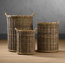 Handwoven Rattan Baskets