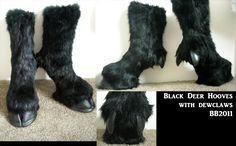 Black hoof boots with dew claw by ~Artsquish on deviantART