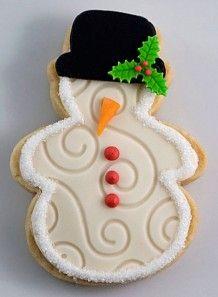 biscuit Bonhomme de neige – Sablé à la vanille décoré de pâte à la guimauve