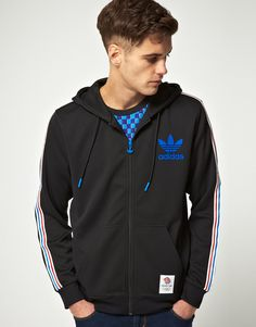 Adidas Originals Olympics Team GB Hooded Zip Flock Sweat