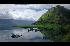 Takengon district, Dano tawar Lake in Aceh province .Indonesia