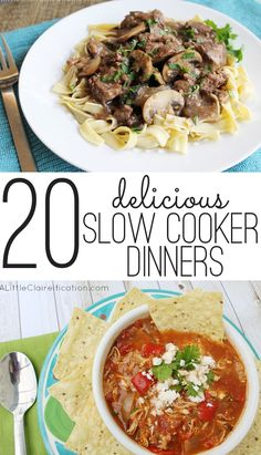 20 yummy slow cooker dinner recipes