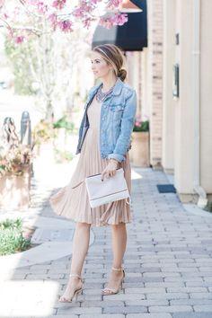 Merrick's Art Lauren Conrad Blush Dress - How To Dress Up And Dress Down A Pleated Dress