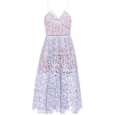 Self-Portrait Laelia Lace Dress ($390) ❤ liked on Polyvore featuring dresses, vestidos, purple, lace dress, self portrait dress, lacy dress, purple lace dress and purple cocktail dresses