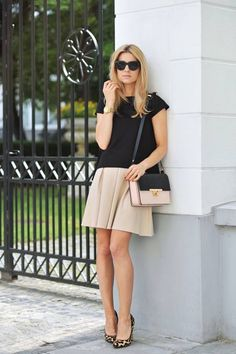 Black & nude outfit - love the classic look