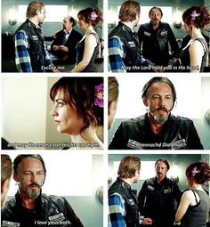 loved what Chibs said to Jax and Tara at their wedding...it just sounded so much like him.