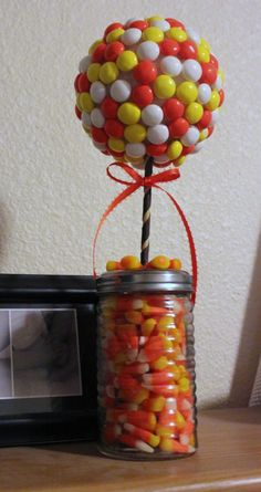 White Chocolate Candy Corn M&M; Topiary