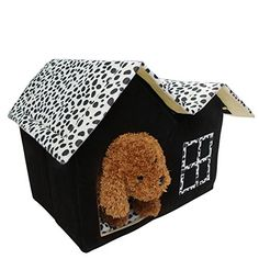 Kocome Luxury Pet House Spot Double Top Puppy Dog Cat Warm Kennel Sleep Bed Room Mat >>> Check out this great product. (This is an affiliate link)