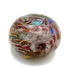 (2655) Paperweight P. Bigaglia-L. MORETTI, Murano-Venezia, 1888/1894. | eBay Yellow Art, Paper Weights, Victorian Era, Mosaic Glass, Chevron, Glass Beads, Perfume Bottles, Art Deco, Ebay