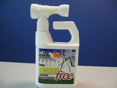 Bug Break Free Natural Pest Control -  This natural product is easy to use.  Hose end sprayer allows for no mess and easy application.  Contains cinnamon oil, cedar wood oil, clove oil and vanillin - pleasant smelling.  Use on all outdoor surfaces and vegetation - lawns, trees, shrubs and flowers.  Kills and repels fleas, ticks, spiders, black flies, mosquitoes, snakes, etc.  32 ounce bottle covers the average sized back yard (4500 sq. ft.)  Lasts two weeks.  Will not harm children or pets.
