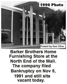 Barker Brothers store in the Buena Ventura mall. Now the Pacific View mall.