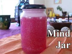 A Mind Jar is a meditation tool to use whenever a child feels stressed,overwhelmed or upset. Imagine the glitter as your thoughts. When you shake the jar, imagine your head full of whirling thoughts, then watch them slowly settle while you calm down.
