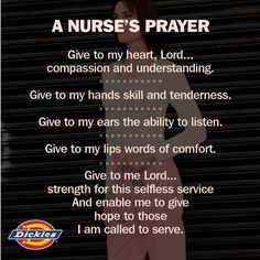 This is why we ♥ nurses! A nurses prayer!!!! Great prayer to live by, all the reasons I became a nurse! #ScrubsMagGiveaway