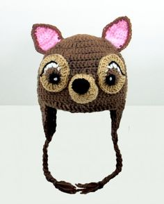 Bambi crochet stocking cap. I so want one of these!