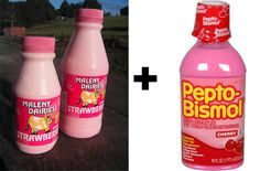 Drink strawberry milk out of a Pepto Bismol bottle: | 12 Ways To Look Like You're Absolutely Insane