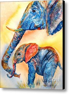Psychedelephants Canvas Print / Canvas Art By Donna Martin