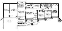 Discover the Glennon Green Berm Home that has 3 bedrooms and 2 full baths from House Plans and More. See amenities for Plan Underground House Plans, Underground Homes, House Plans And More, Small House Plans, Kitchen Floor Plans, House Floor Plans, Earthship Plans, Greenhouses For Sale, Earth Sheltered Homes