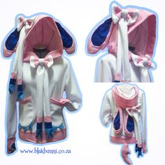 MADE TO ORDER Sylveon Nymphia pokemon inspired hoodie cute bows eeveelution by BlakBunni on Etsy https://www.etsy.com/listing/238630565/made-to-order-sylveon-nymphia-pokemon