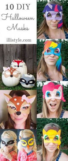 April from illistyle.com is sharing her no sew, DIY Halloween masks - including FREE printables. These are totally fun and the perfect homemade costume!