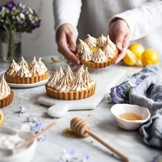 Hope you are all having/have had a wonderful Easter Sunday! I am so ready for a good Spring-y  dessert like these little lemon Tarts! . http://thekitchenmccabe.com/2017/02/16/coconut-lemon-meringue-tarts-paleo-gf/ . #refinedsugarfree  #glutenfree #grainfree  #thatsdarling #f52grams #feedfeed @thefeedfeed #vscocamfood #huffposttaste #thatsdarling #foodphotography #foodphotographer #paleo #paleodessert #tart #lemon #citrus #meyerlemon #onmytable