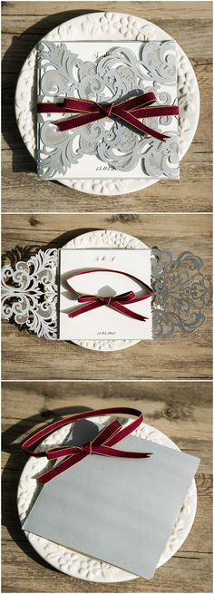 2016 trending marsala and silver gray laser cut wedding invitations Laser Cut Invitation, Laser Cut Wedding Invitations, Wedding Stationery, Wedding Trends, Trendy Wedding, Dream Wedding, Wedding Ideas, Diy Wedding, Wedding Cards