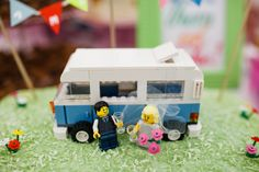 Amy & James, Lego vw camper cake topper, 18th May 2013  (c) www.emmacasephotography.com
