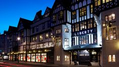 Liberty, London at night