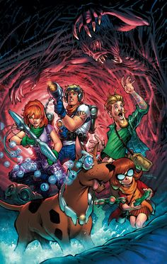 SCOOBY APOCALYPSE #1//Covers and Splashes/Jim Lee/ Comic Art Community GALLERY OF COMIC ART
