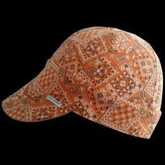 Orange Bandana Welding Hat
