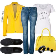 A fashion look from August 2014 featuring peaked lapel blazer, leather jeans and toecap shoes. Browse and shop related looks. Leather Jeans, Ralph Lauren Collection, Women's Clothes, Clothes For Women, Daily Fashion, Pretty Woman, Fashion Forward, Fashion Looks, Charles Keith