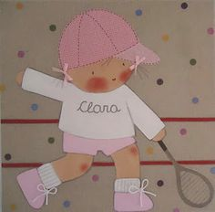 CUADROS PERSONALIZADOS: Cuadros de niños - tennis