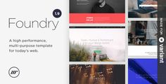 Foundry v1.9.5.1  Multipurpose HTML  Variant Page Builder