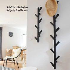 Metal Coat Hangers, Tree Coat Rack, Coat Tree, Ikea Tjusig, Wall Hangers For Clothes, Ikea Tree, Jacket Hanger, Cap Rack, Home Decor